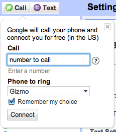 Start the call on Google Voice